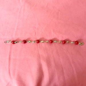 Jewelry - Jasper gemstone bracelet on gold filled setting